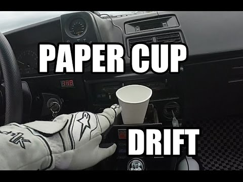 Initial D Mythbusters: AE86 Paper Cup Drifting