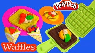Playdoh Breakfast Waffle Fruit Cream Toppings Maker Playset Play-doh Toy Unboxing Review