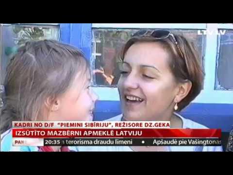 VIDEO: Izsūtīto mazbērni apmeklē Latviju
