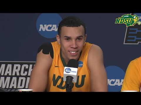 55fba7e4a72 NDSU Men's Basketball Postgame Press Conference - March 21, 2019