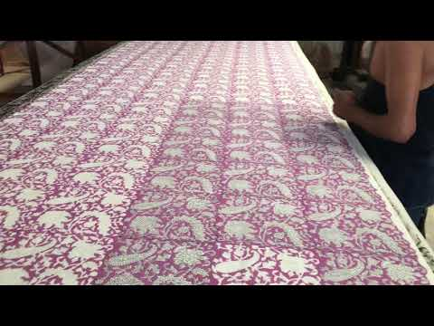 Indian Hand Block Floral Print Cotton Running Fabric Voile Dressmaking