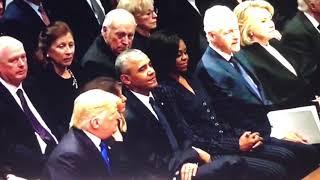 Body Language Analysis Donald Trump meets Obama & Hillary Clinton at Bush Poker Game
