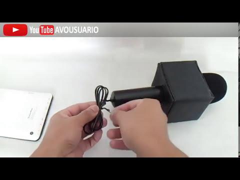 Microfono Tipo Reportero Casero y Elegante para Tablet o Celular