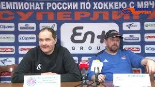 Пресс-конференция В. Ануфриенко и А. Рушкина
