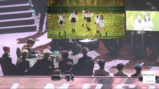 BTS , Seventeen REACTION TO GFRIEND STAGE (Time for the moon night +Sunrise)@190115