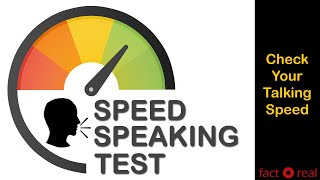 How fast you can Speak | Speed Speaking Test