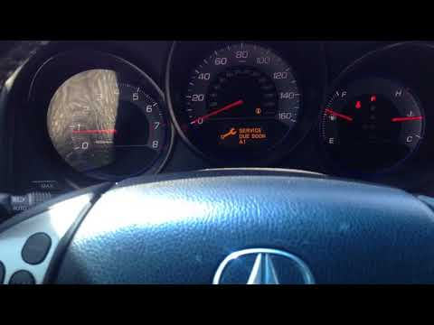 How to Reset Oil Service Dash Light - Acura TSX 2004-2008