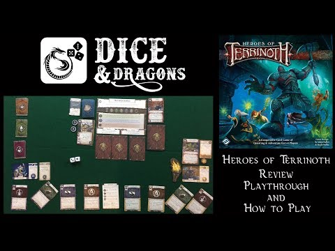 Dice and Dragons - Heroes of Terrinoth Review, How to Play and Playthrough