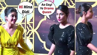 Hina Khan & Shivangi Joshi At News18 Stardom Awards 2019