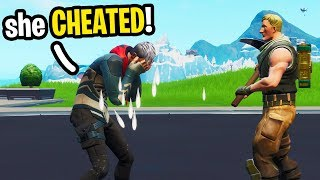 I met an 8 Year Old Kid on Fortnite that got CHEATED on by his Girlfriend! (SAD Story)