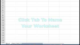 Excel Introduction Opening a Workbook and Starting a Spreadsheet For Small Business Entrepreneurs