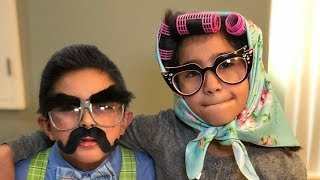 Our Morning Routine and Dressing Up Old For 100th Day of School