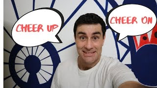 Cheer up/Cheer on. English Phrasal Verb Lesson!!