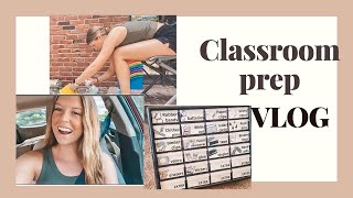 Classroom Prep VLOG // Get Ready With Me, Classroom Decor DIY's