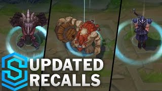 Recalls - Champion Updates | All Champions who didn