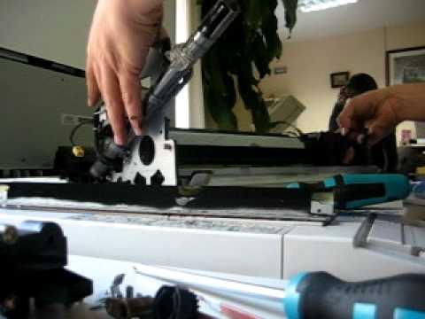 Rutina de mantenimiento en fotocopiadora