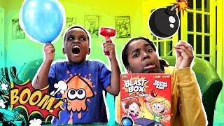 EXPLODING BALLOON Blast Box Challenge! - Onyx Adventures!