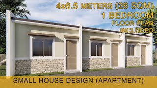 Small House Design Idea - Apartment (4x6.5 Meters) 26sqm With One Bedroom