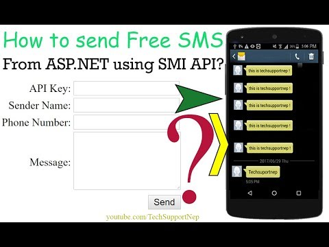 How to Send Free SMS From ASP.NET using SMS API? [With Source Code]