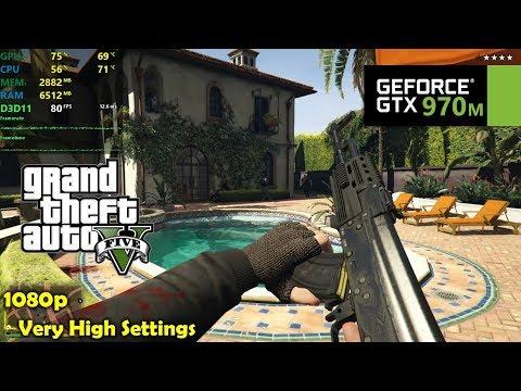 GTX 970M | GTA 5 / V - 1080p Very High Settings!