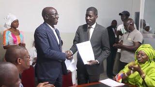 Signature de la convention de financement entre la Mairie de Thiès et PACASEN