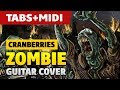 The Cranberries - Zombie (Acoustic Guitar Cover with TABS and MIDI)
