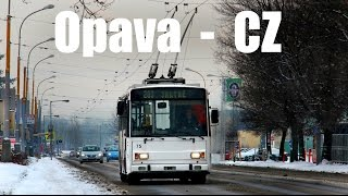 preview picture of video 'OPAVA TROLLEYBUS - O-Bus in Opava (30.12.2014)'