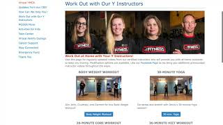Introducing the NEW Virtual YMCA! Find important updates, workouts with your favorite instructors, a