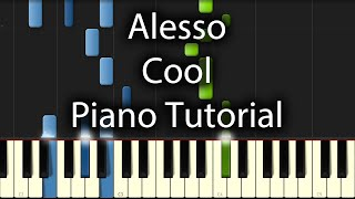 Alesso - Cool Tutorial (How To Play on Piano) feat. Roy English
