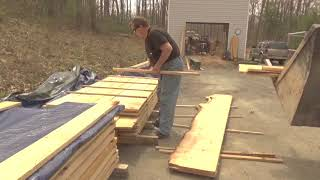 The Work Needed After The Sawing To Keep Lumber Usable. LT15