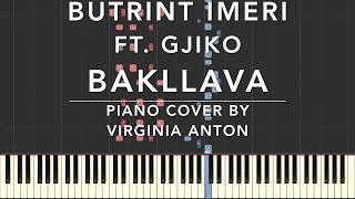 Bakllava Butrint Imeri Ft. Gjiko Piano Cover Tutorial Synthesia