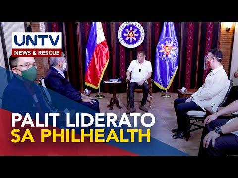 [UNTV]  Duterte, sang-ayon sa panukala na alisin bilang chairman ng PhilHealth ang DOH Secretary
