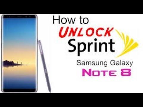 Remove Sprint Lease Password Samsung Note 8 Sprint N950U