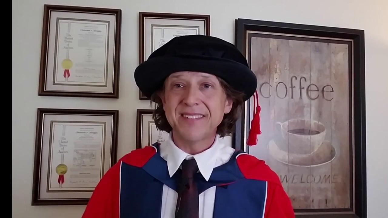 Derby Graduation - July 2019 - Honorand Chris Shrigley