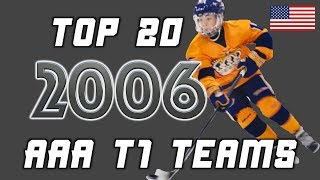 2006: Top 20 AAA (Tier 1) Teams