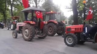 inegol traktör konvoyu