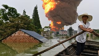 Massive Explosion at Factory Caused by Unprecedented China Floods thumbnail