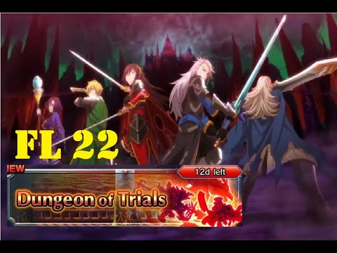 Grand Summoners] GL Dungeon of Trials Floor 22 Clear! - смотреть