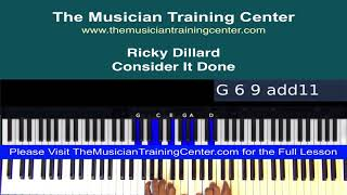 """Piano: How to Play """"Consider It Done"""" by Ricky Dillard"""