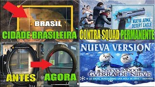 Cidade Brasileira no Novo Mapa KALAHARI, Novas Miras, Contra Squad de Volta e Permanente e MAIS