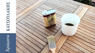 Maintenance of Garden Furniture with Teak Oil