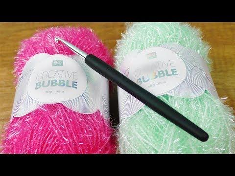 Creativ Bubble im Live Test! Garn für Spülschwämme | Häkel Idee für den Sommer