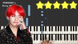 BTS V - Scenery (풍경) 《MINIBINI EASY PIANO ♪》