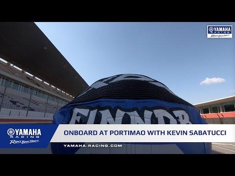 Onboard at Portimao with Yamaha R3 bLU cRU rider Kevin Sabatucci