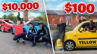 SIDEMEN $10,000 VS $100 ROAD TRIP