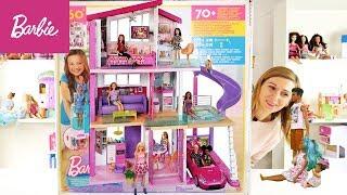 Nowy mega duży, idealny domek dla Barbie!!! Dreamhouse Otwieram z Rodzinką Barbie!