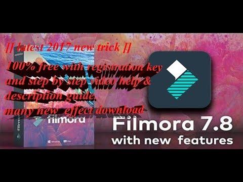 how to get filmora for free 2017