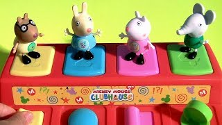 Nickelodeon Peppa Pig Pop Up Toys Surprises Learn colors and numbers