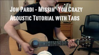 Jon Pardi - Missin' You Crazy (Guitar Lesson/Tutorial with Tabs)