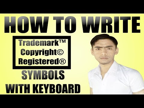 How To Write (©,™,®) Symbols With Keyboard